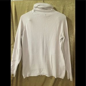 Cyrus Tops - Pale pink knit sweat shirt with turtle neck